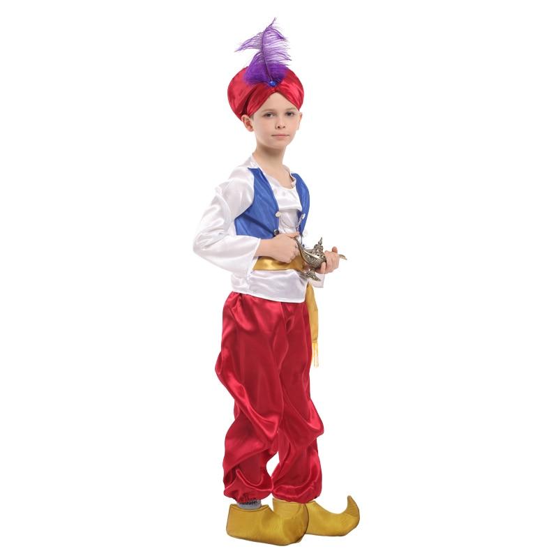 Enfants enfants Halloween fête Aladdin Costumes Aladdin lampe génie déguisement Adam Prince Fantasia arabe vêtements enfant garçon carnaval