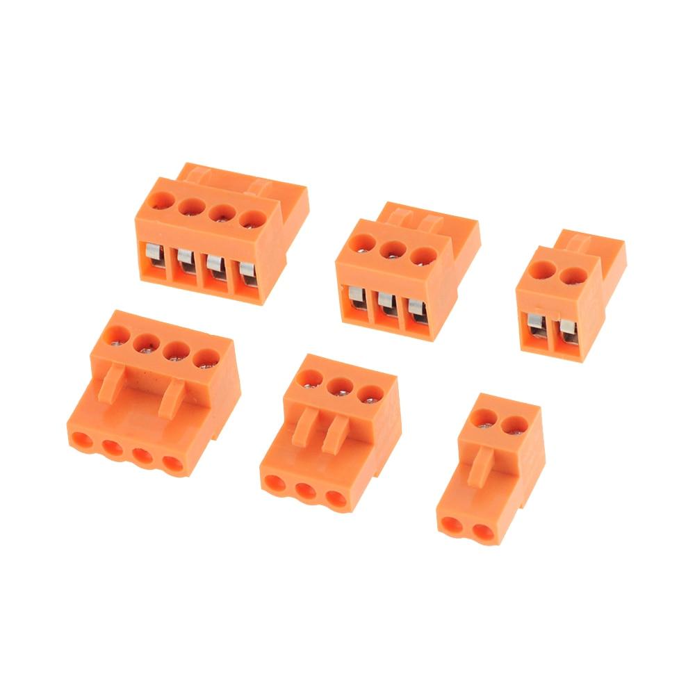 5 uds naranja HT396K 3,96 2P- 12P PCB conector bloque de terminales 15EDGK paso 3,96mm 2Pin-12Pin cableado Plug-in Terminal Contact