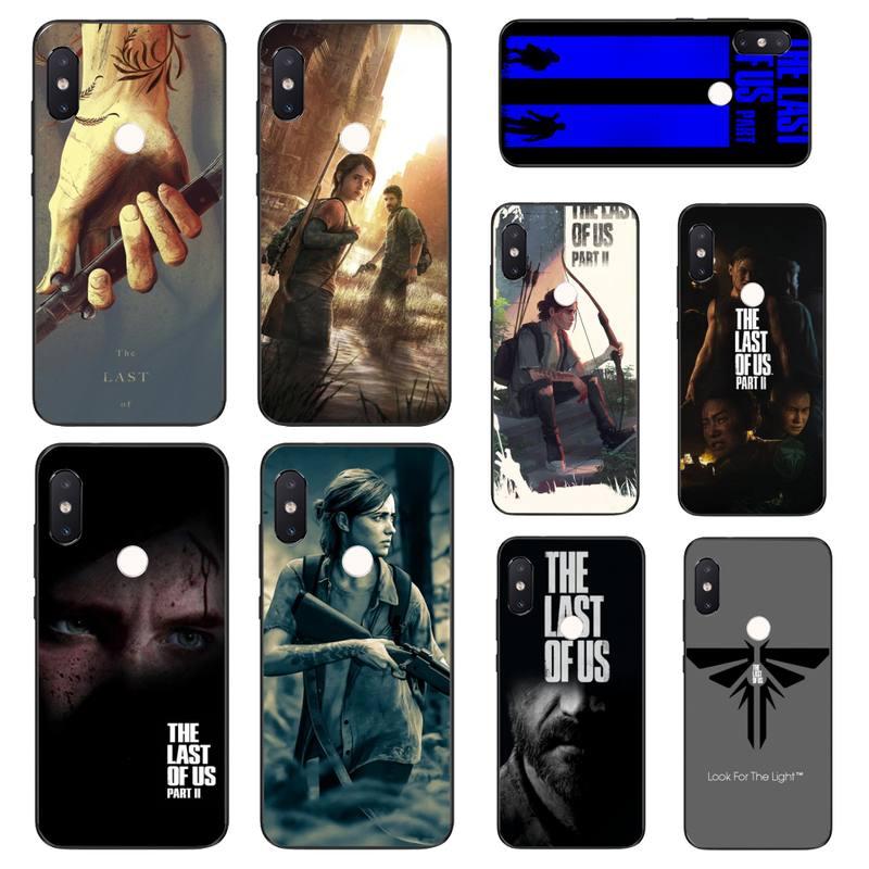 YJYDNHBD The Last Of Us preto Caixa Do Telefone Casco Para Xiaomi Mi8 9 10 9T 5 6 A1 A2Lite 9SE 8SE Mi8lite Mix2 Max3 F1