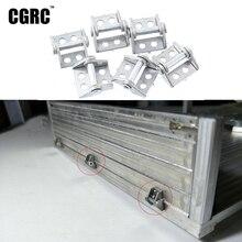 6 adet Metal römork kargo kutusu menteşe 1/14 Tamiya RC kamyon MAN Benz Scania 1/10 RC paletli