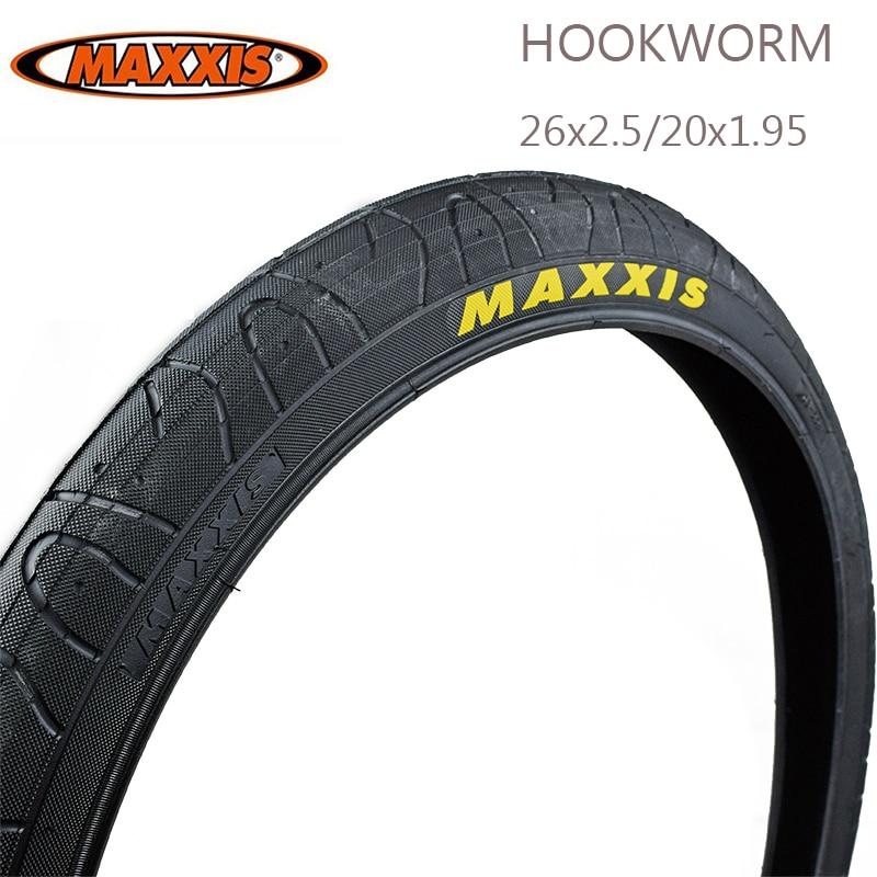 Maxxis 26 hookworm 26*2.5 20*1.95 pneu de bicicleta pneus de bicicleta montanha sujeira jumping urbano rua julgamento 65psi 26 pneus mtb parte da bicicleta