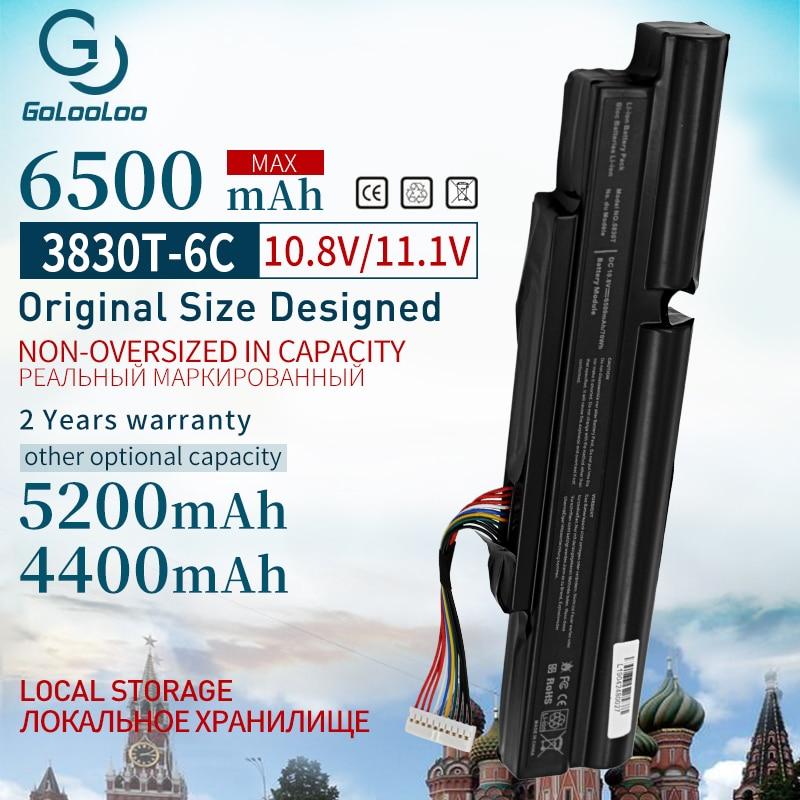 Gooloo 6 ячеек Аккумулятор для ноутбука Acer Aspire TimelineX 3830T 3830TG 4830T 4830TG 5830T 5830TG AS11A3E AS11A5E 3ICR19/66-2