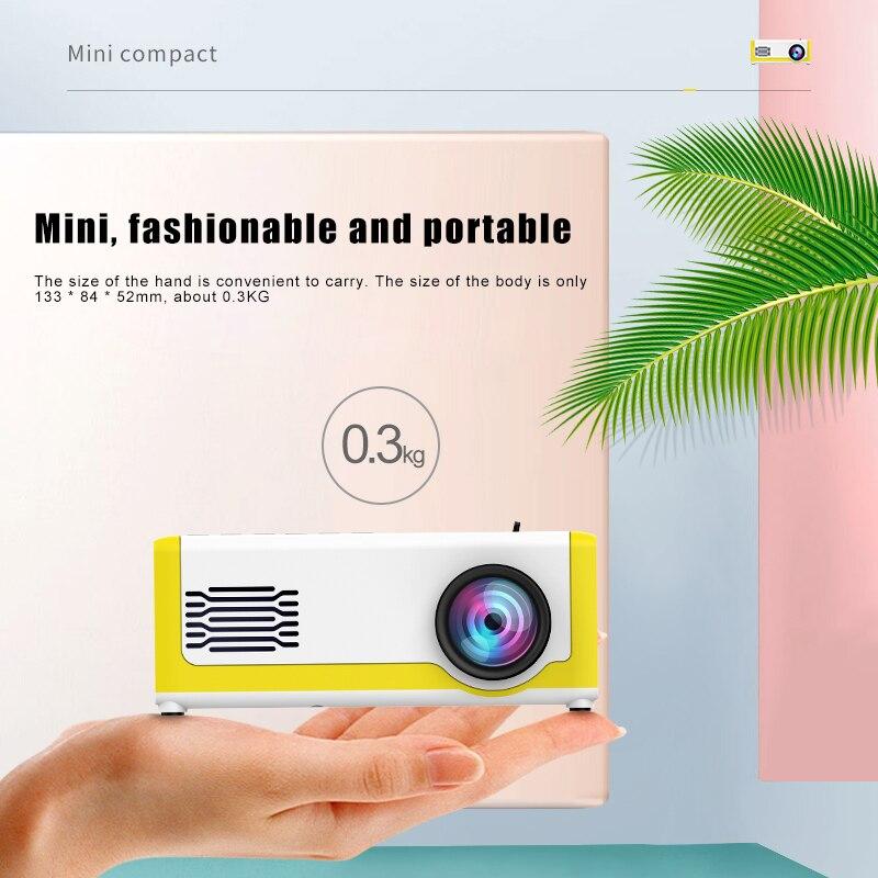 مصغرة جهاز عرض (بروجكتور) ليد عالية الوضوح LCD المحمولة الهاتف المحمول المنزل العارض VH99