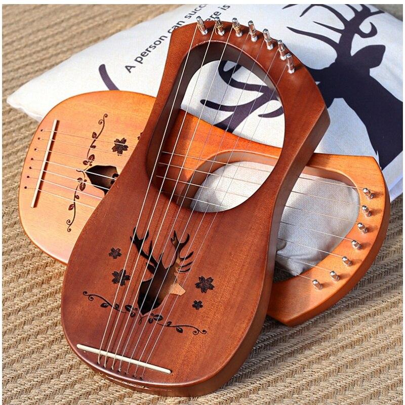 آلة صغيرة لموسيقى القيثارة من 10 أوتار آلة صغيرة لموسيقى الغزلان آلة موسيقية موسيقية صغيرة EI50HP