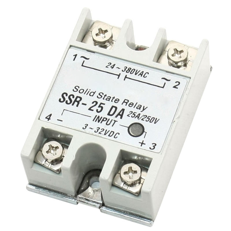 HOT  Single Phase DC Control AC Solid State Relay 25A SSR-25 DA Type