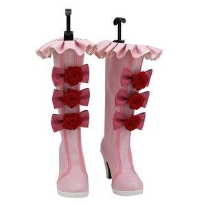 NEKOPARA Cosplay Shoes Chocola Anime Shoes High heels Pink high boots Long Boot