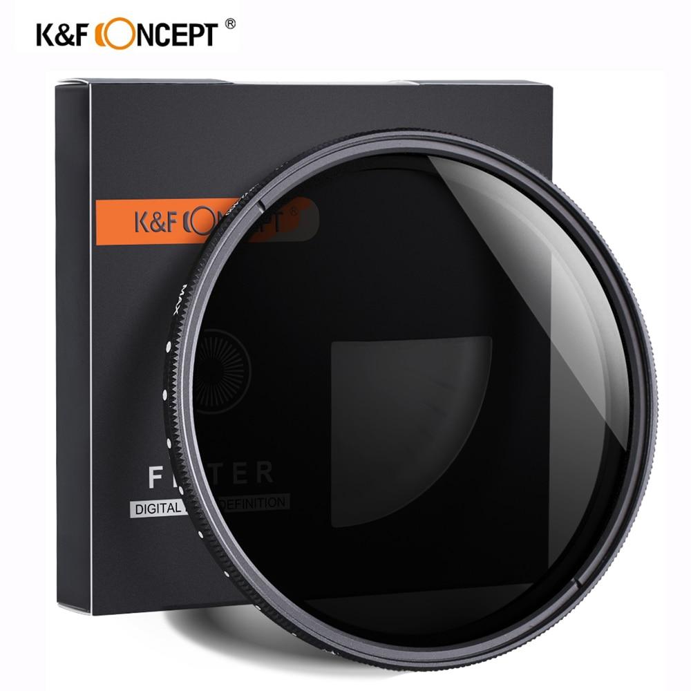 K & F مفهوم ND2-400 nd تصفية 37/40.5/43/46/49/52/55/62/67/72/77 مللي متر قابل للتعديل محايد الكثافة Fader متغير عدسة الكاميرا تصفية