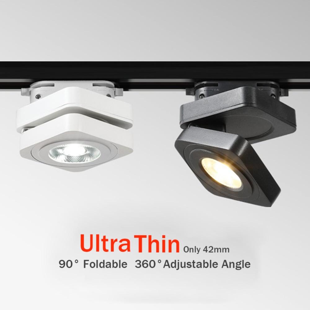 360 Degree Adjustable Led Track Lights 10W 7W 5W Ceiling Rail Track lighting Spot Rail Spotlights Replace Halogen Lamps AC220V