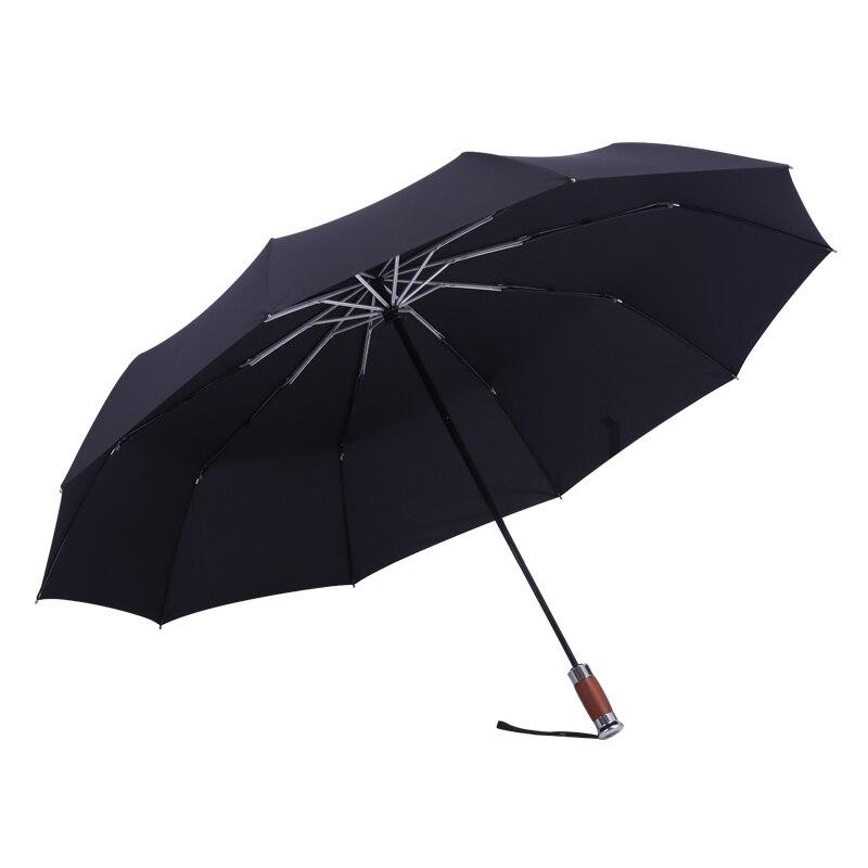 Three Folding Full Automatic Umbrella Parasol 10 Bone Windproof Umbrella Double Sunny Rainy Men Business Paraguas Gift SY414 enlarge