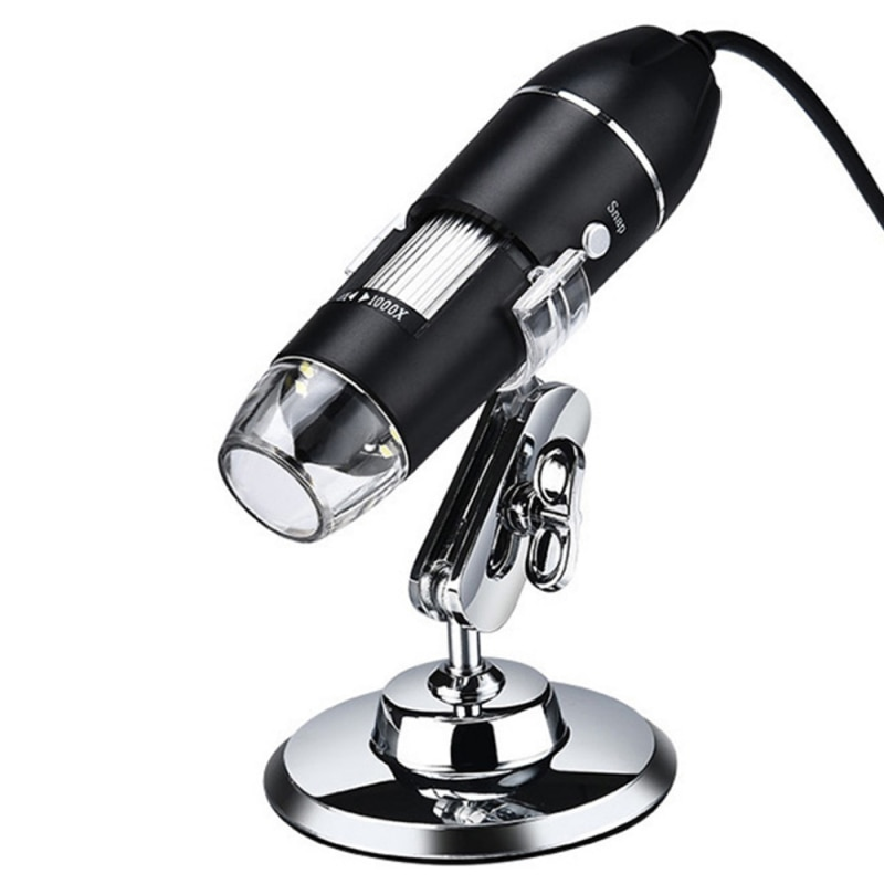 1600x usb digital microscope camera portable electronic microscope for soldering led handheld magnifier for mobile phone repair Adjustable 1600X Digital Microscope USB Electronic Microscope Camera 8 LEDs Zoom Magnifier Endoscope For Phone PC