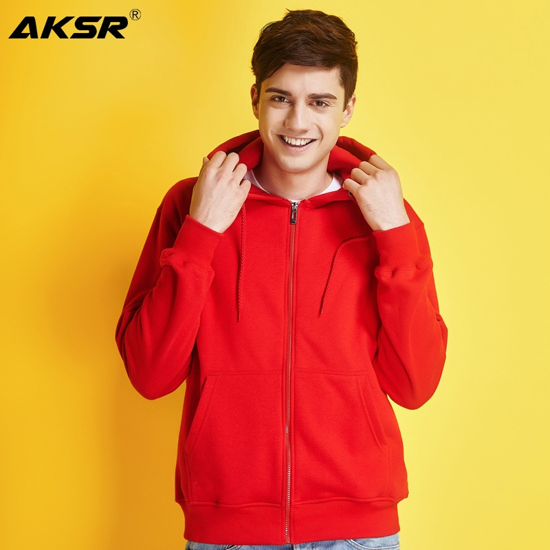 AKSR  New Men Hoodies Sweatshirt Zipper Streetwear Hip Hop One Piece Hoodie White Plain Hoodie Hooded Sweatshirts Sudadera plain white color hollow out zipper side design sweatshirt