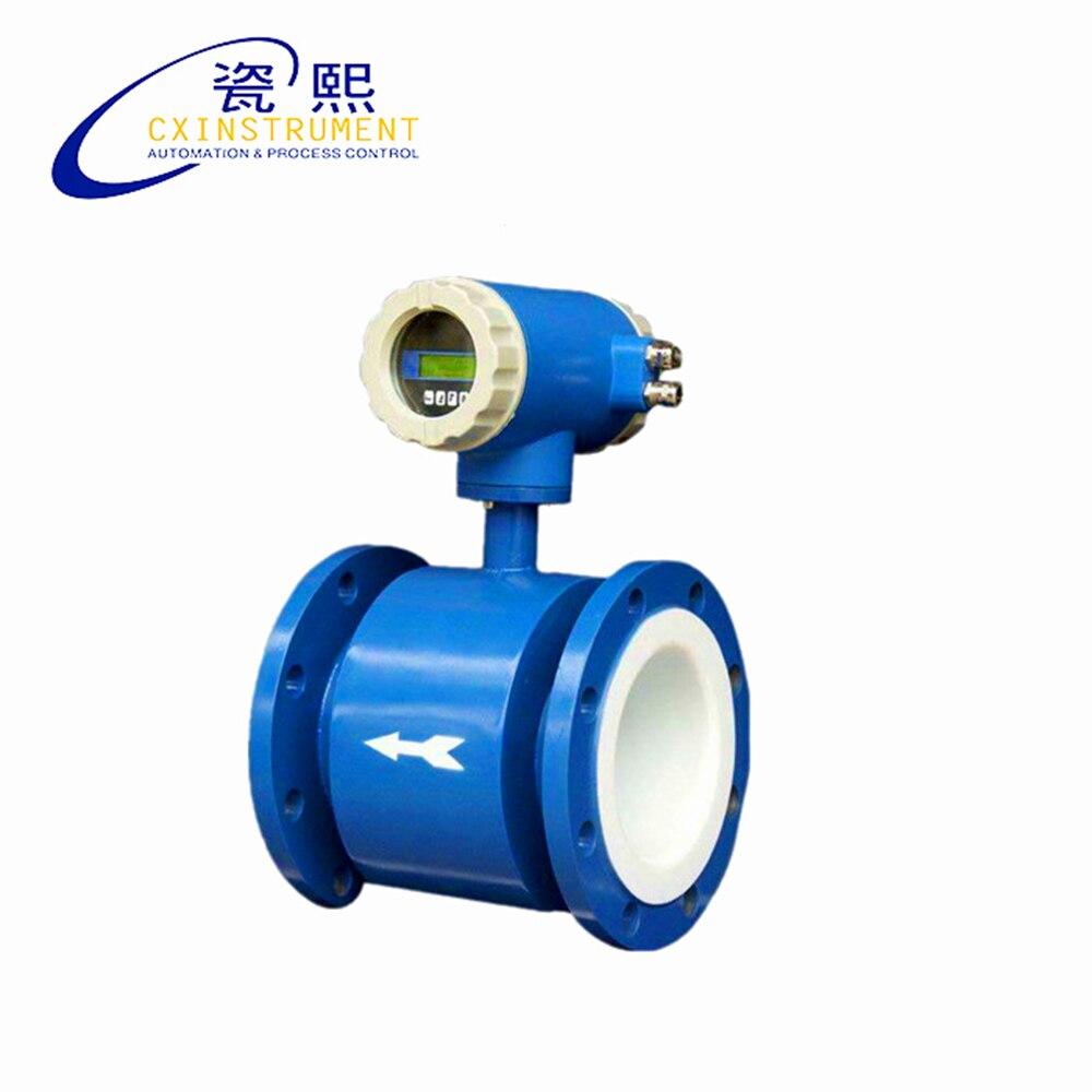 Inoxidável com Sinal Escala do Teste e Medidor de Fluxo de Água sem Fio o Eletrodo Material de Aço Fio da Saída do Pulso Estável h da Saída do Pulso 1.6 m3 25 –