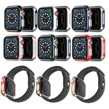 Premium Laer Cover for Apple Watch 6 5 4 40mm 44mm Womens Jewelry Protective Case for iWatch Series