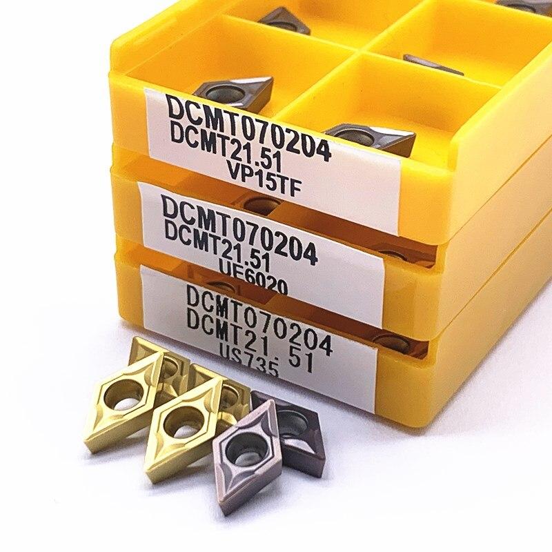 dcmt070204-vp15tf-Оригинальное-Высокое-качество-лезвие-из-твердого-сплава-Цилиндрический-Токарный-Инструмент-cnc-токарный-инструмент-dcmt070204-us735