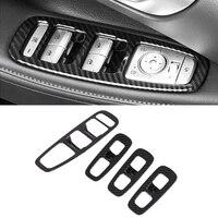 for hyundai sonata dn8 2020 2021 car accessories carbon fiber style door window armrest cover switch panel trim molding garnish