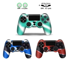 Für PS4 Controller Gamepad Silikon Abdeckung Gummi Haut Fall Gel Schutzhülle für Playstation 4 Controller Controle Joystick