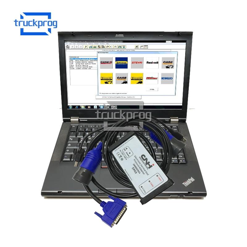 FOR CNH ESTKit+T420 Laptop for CNH New Holland CASE Agriculture Equipment Diagnosis Scanner CNH EST