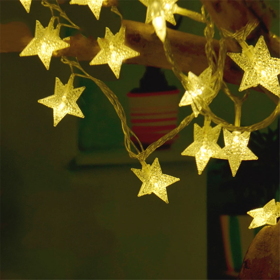 Twinkle Star Fairy String Lights For Bedroom Plug in 10M 100 Stars Indoor Led Lights Decoration Christmas Thanksgiving Garlands