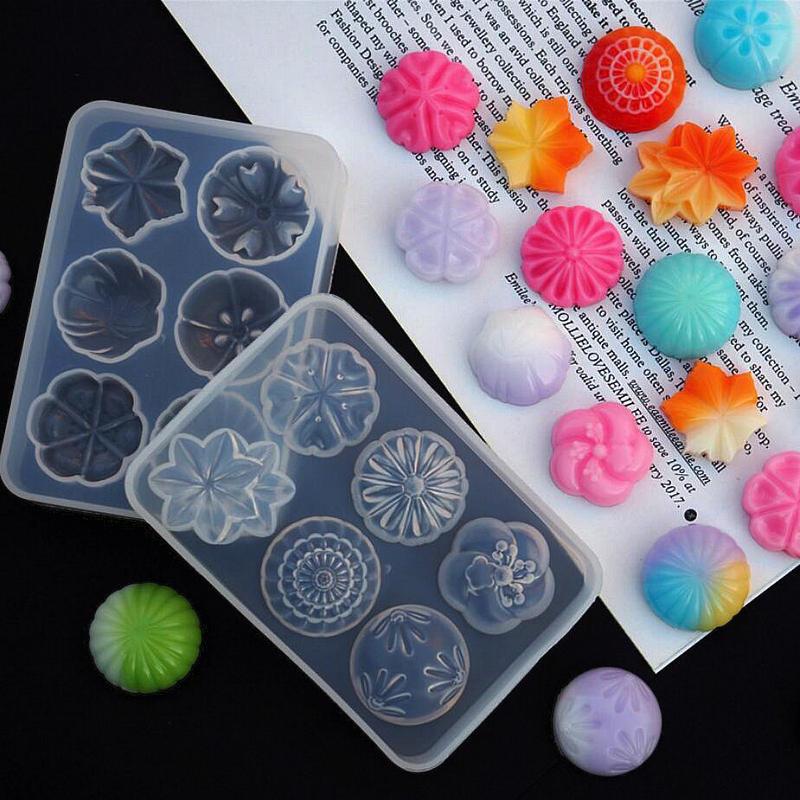 Transparent Mould Japanese Dessert Fruit Cake Shapes Epoxy Resin Jewelry Pendant DIY Craft Tool Silicone Molds