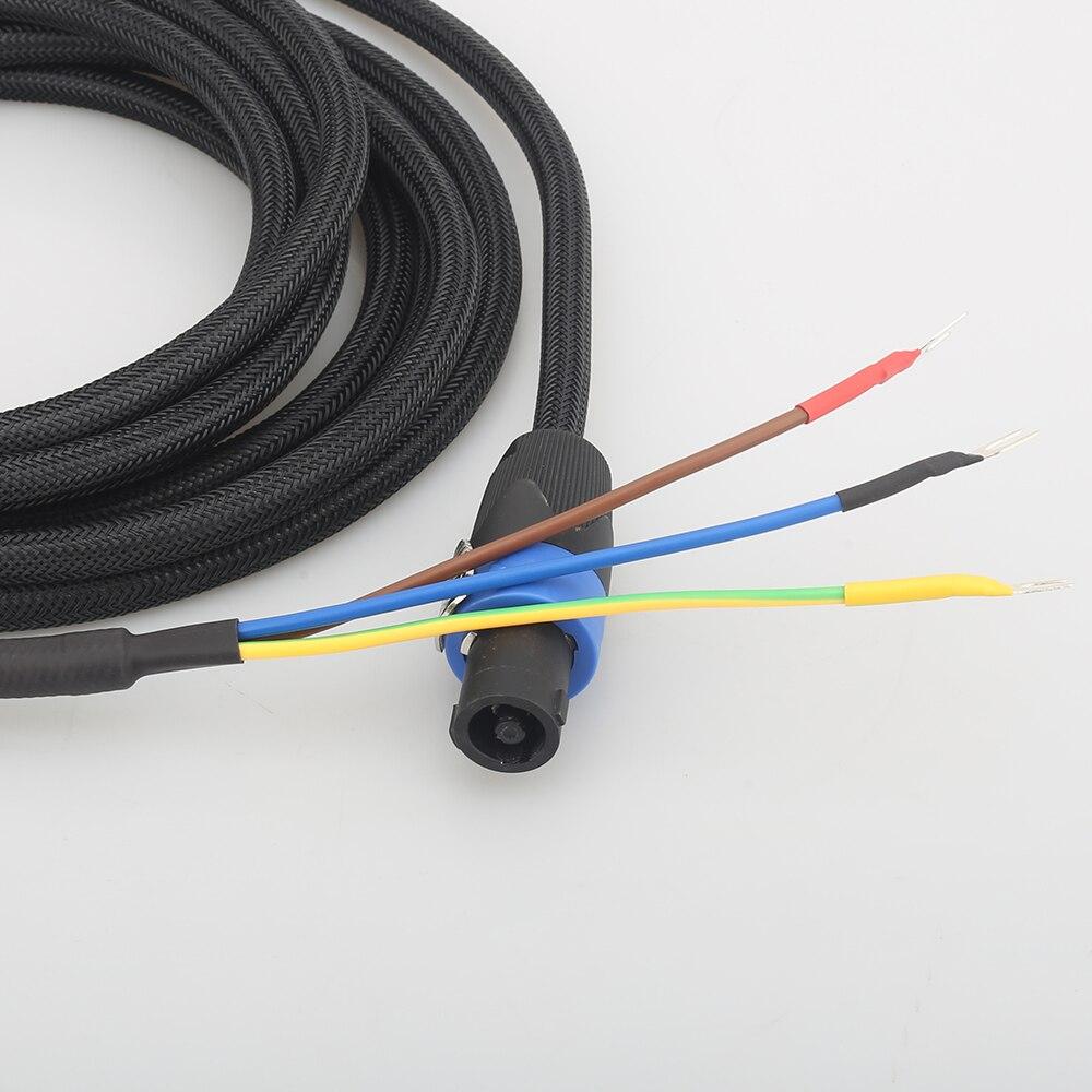 Cable de altavoz de graves de alta calidad audiocast SBC01, Cable de 3 cables para subaltavoces Speakon a pala para acústica REL/MJ