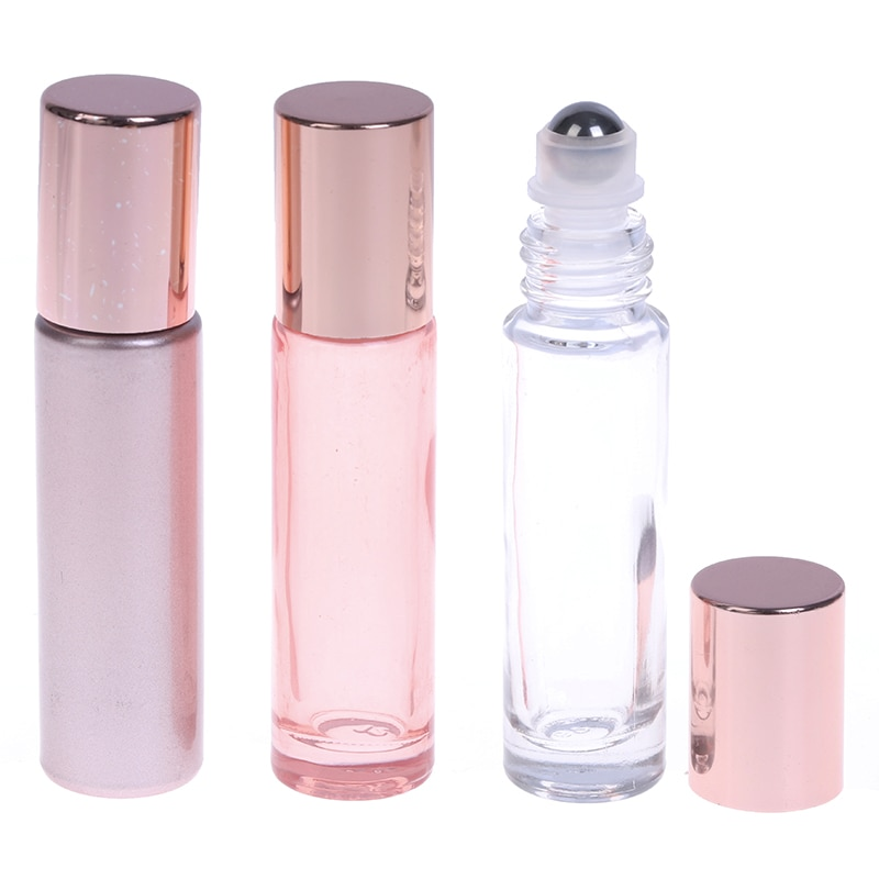 10ml Roll On Essential Oil Empty Perfume Roller Ball Bottle For Travel Packing