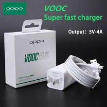 Оригинальное быстрое Сетевое зарядное устройство VOOC 20 Вт 5 В/4A, быстрое зарядное устройство для США/ЕС/Великобритании, кабель типа C для OPPO R11/...