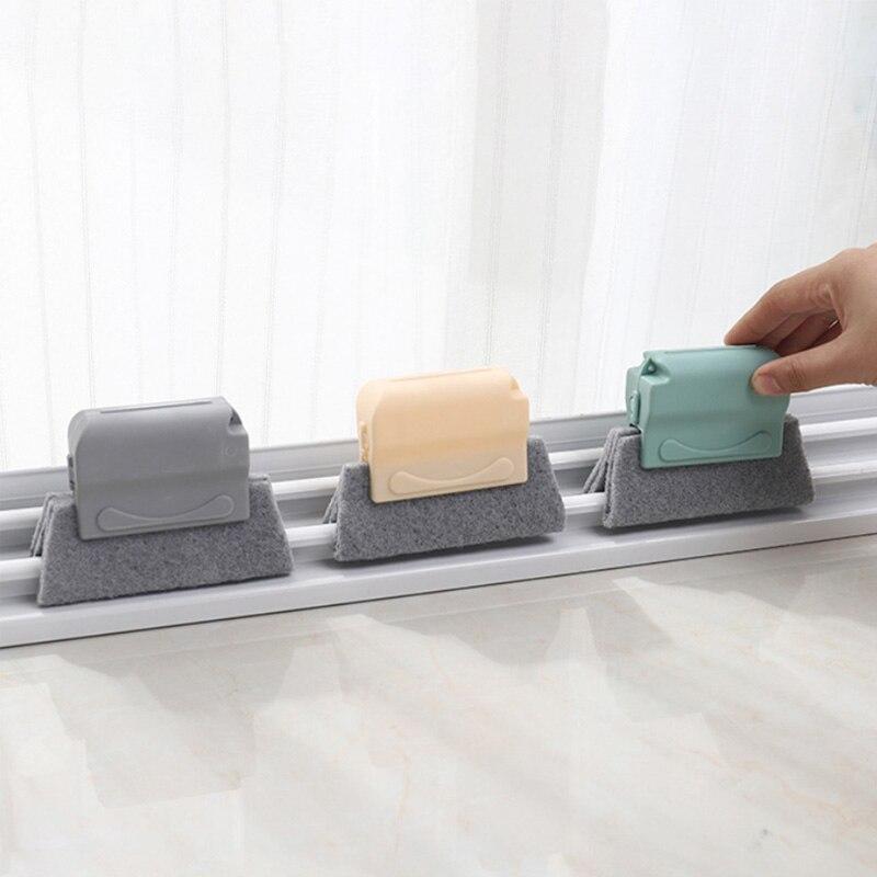 Groove limpeza almofada escovas handheld janela slot cleaner cozinha lareira tigela escovas acessórios de limpeza do agregado familiar
