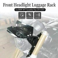 for bmw r9t r nine t scrambler pure motorcycle front upper headlight headlamp luggage rack carrier mount bracket 2014 2018 2019