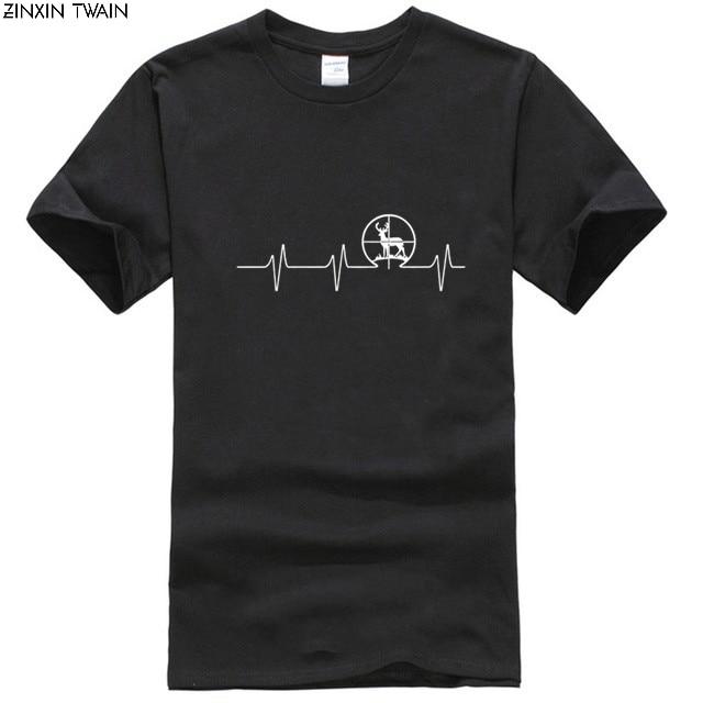 Nuevas camisetas de moda para hombres, camiseta de manga corta con ciervo de manga corta Hunter Heat, camisetas elegantes de Bob Marley