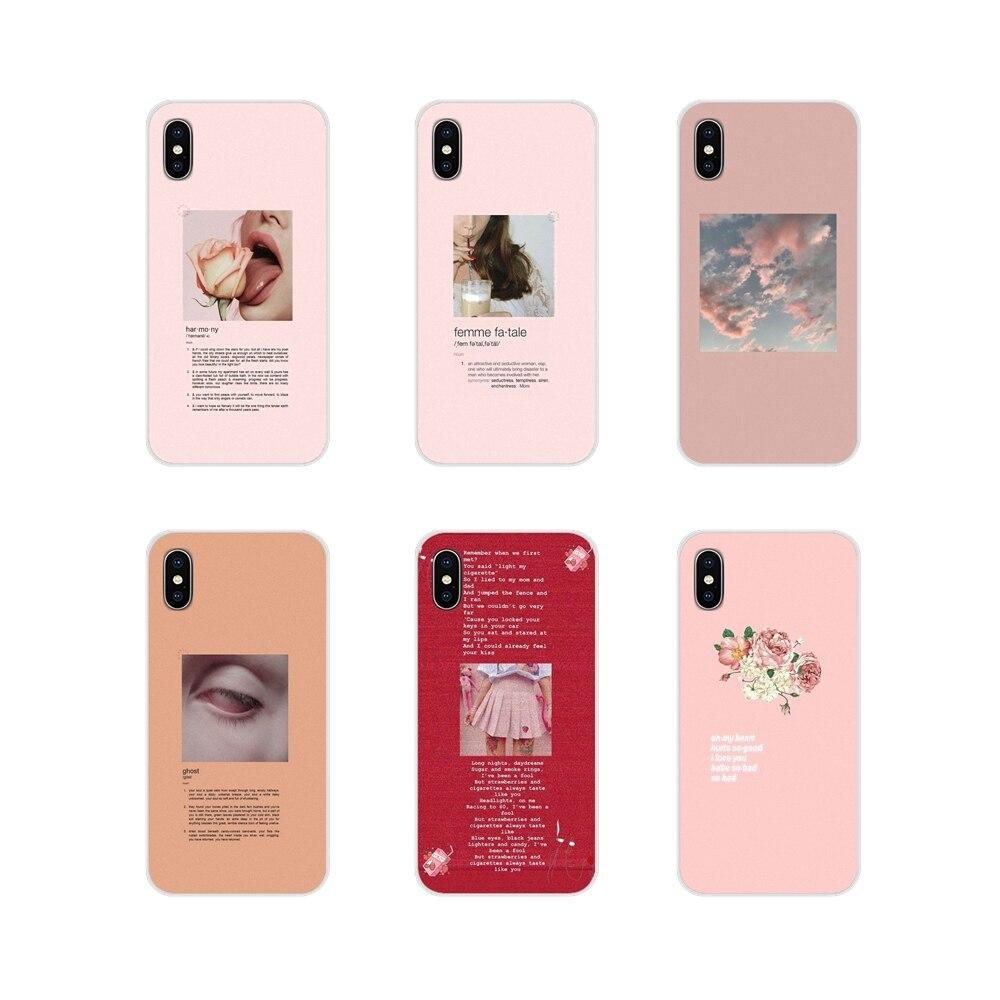 Чехол для телефона с розовыми эстетическими песнями, текст для Apple iPhone X XR XS 11Pro MAX 4S 5C SE 6S 7 8 Plus ipod touch 5 6