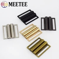 24pcs meetee 40mm 60mm metal belt clasp buckle hasp buttons for sewing coat down jacket bags garment decor accessories f1 31