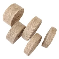 10meters natural burlap wired ribbon fabric craft ribbon diy wrapping burlap ribbon for wedding home christmas party decorations