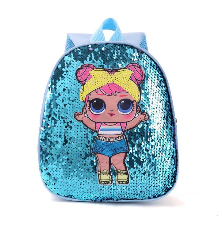 Детский рюкзак с куклой-сюрпризом из искусственной кожи, милый маленький школьный ранец с мультипликационным рисунком для девочек в детском саду