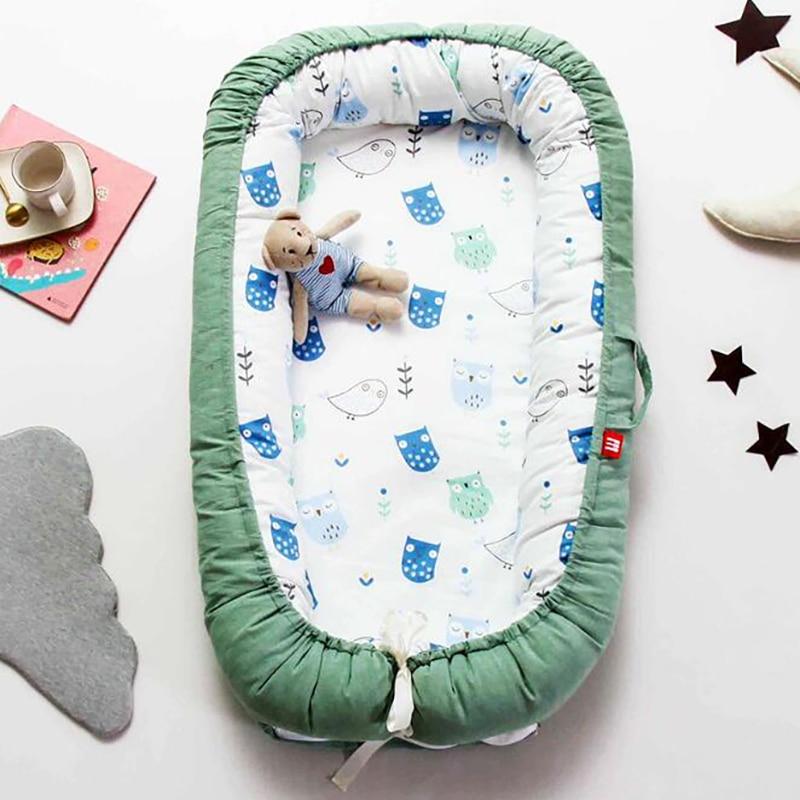 Детская корзина для сна, портативная кроватка для новорожденных, хлопковые защитные бамперы, матрас для кровати YHM008