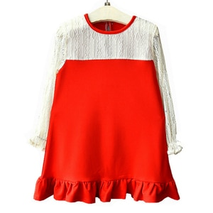 New Fashion Princess Dress Lace Little Girl Fishtail Dress Kids Christmas Party Costumes Girls Birthday Dresses Children's Wear
