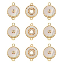 Simple Round Pendant  Delicate Fashion Micro Pave Cubic Zirconia Diamonds Necklaces Jewellery For Wo