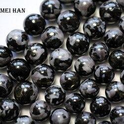 Meihan natural 8mm 10mm gabbro liso redondo solta contas para fazer jóias design moda pedra diy pulseira colar