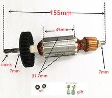 Замена ротора двигателя для Makita HP1620 HP1641 HP1640 HP1621 HP1641F HP1621F арматура 4 зубьев AC220-240V