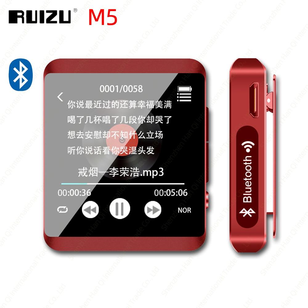 RUIZU M5-reproductor MP3 Mini, por Bluetooth, reproductor de música MP3 portátil con pantalla completamente táctil de 8GB 16GB y con FM, grabación, E-Book, podómetro