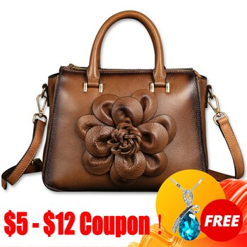 CGA Retro 2021 New Tote Bag Genuine Leather Luxury Handbags Leisure Large Capacity Cowhide For Women Shoulder & Crossbody Bags