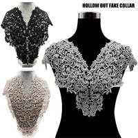 elegant lace embroidered fake collar hollow front back collar v style neck tc21