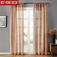 Rideaux à fenêtre transparente en Tulle solide BHD   Pour le salon la chambre à coucher, rideaux modernes en Tulle Organza, stores en tissu pour la cuisine