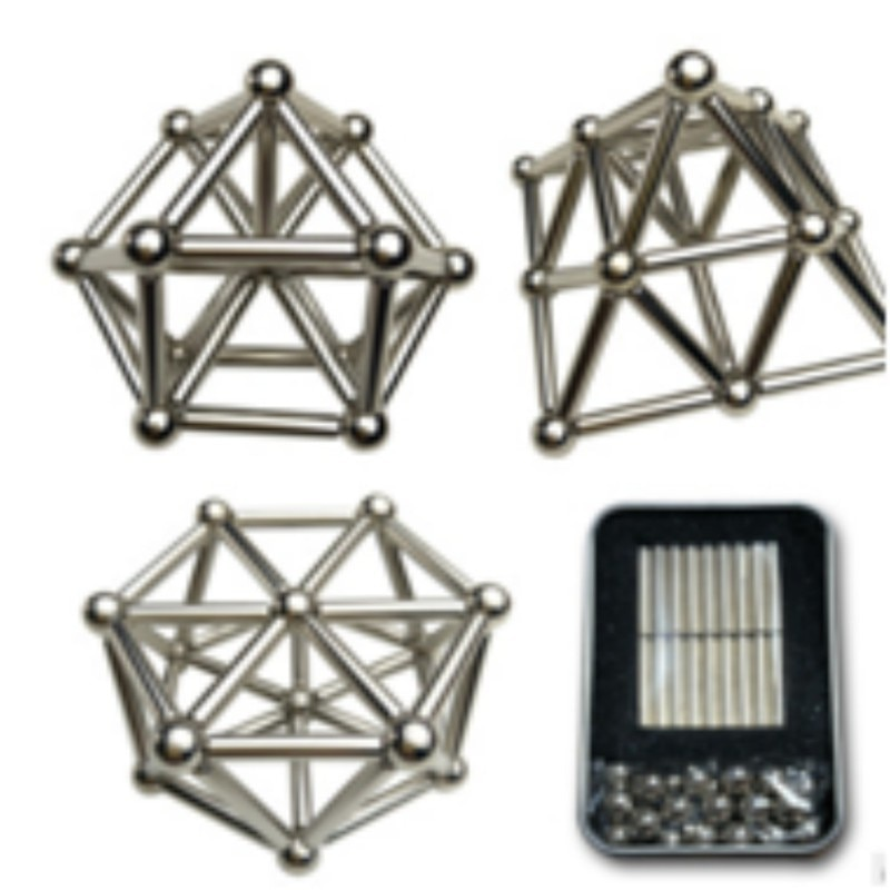 36 шт. магнитные стержни и 27 шт. металлические шарики Магнит