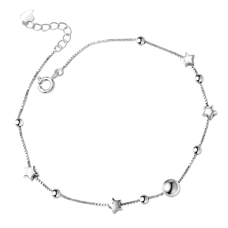 Fashion Star Chain For Women Anklet Hot Sale 925 Sterling Silver Anklets Bracelet For Women Foot Jew