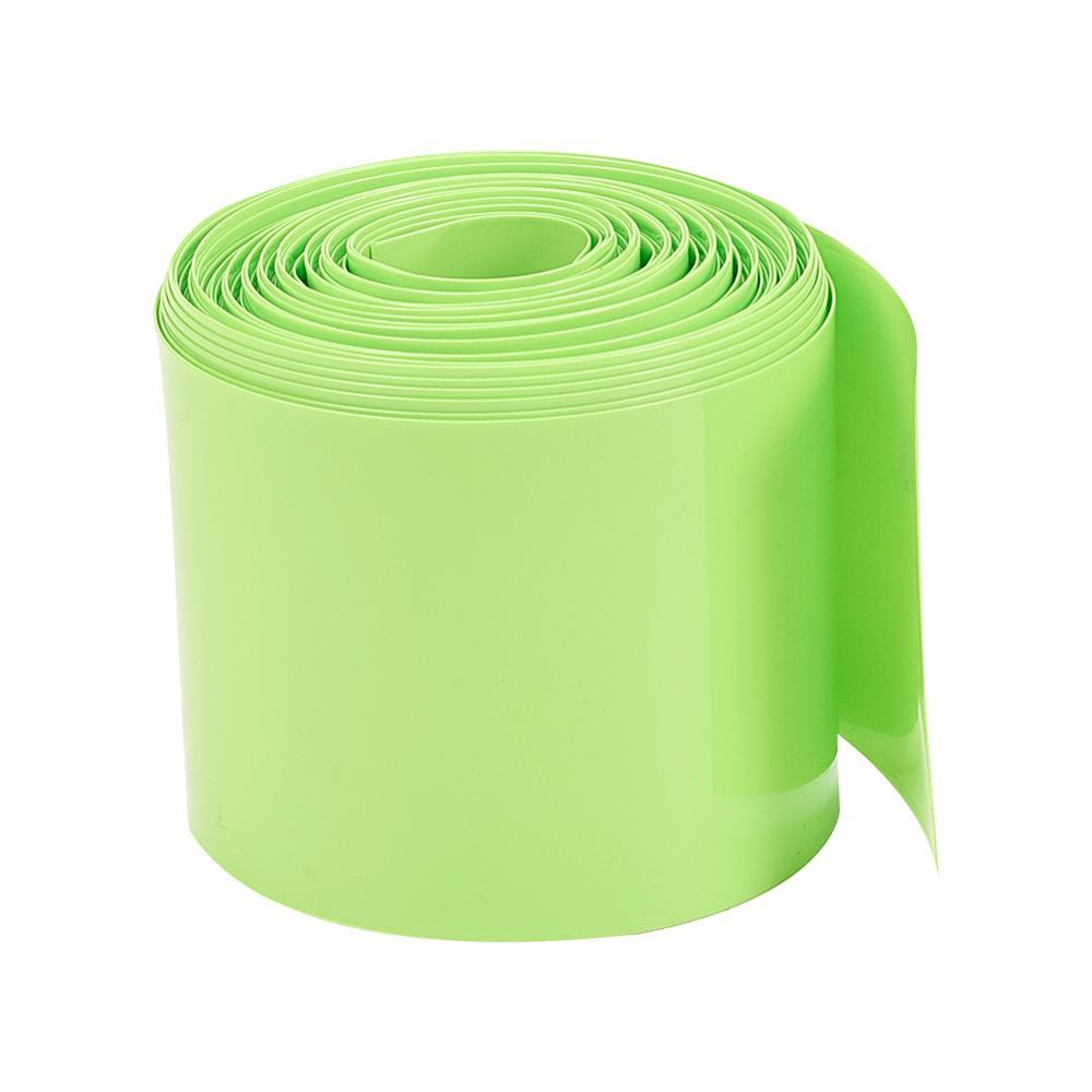 Otmro Fruit Green 50mm ancho plano 2 m/2,5 m/6 m/8 m/10 m Tubo termorretráctil de PVC de longitud para 2 × 18650 baterías tubo retráctil