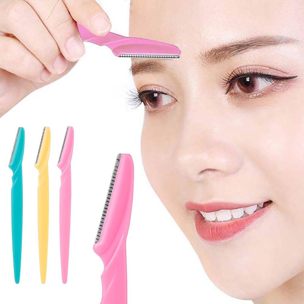 1/3pcs Eyebrow Trimmer Portable Eyebrow Razor Shaver Eye Brow Shaper Shaping Tool Scissors Facial Ha