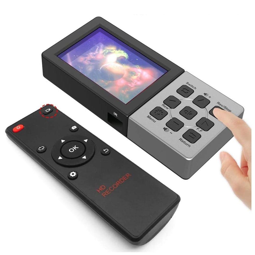 جهاز التقاط ألعاب الفيديو ، HDMI ، 1080P60fps ، بطاقة Micro SD مباشرة ، 3.5 بوصة ، تشغيل شاشة ملونة ، مسجل فيديو مباشر ، Ezcap273