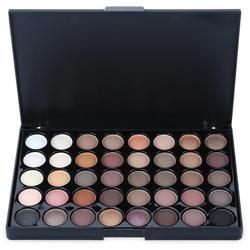40 cores compõem matte eyeshadow paleta portátil profissional sombra de olho creme feminino comestic shimmer sombra pallete conjunto