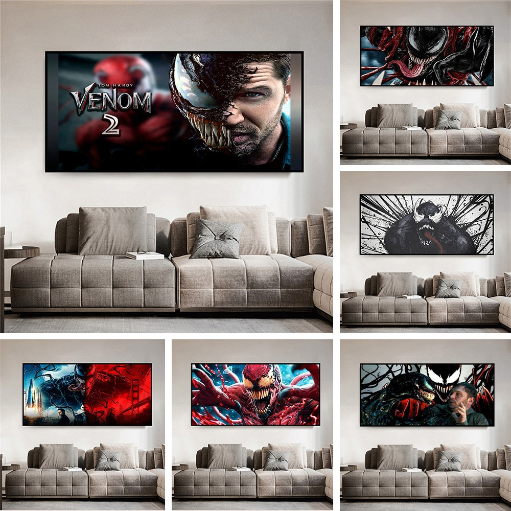 Marvel Movie Venom Let There Be Carnage Painting Interior Wall Decoration Modern Home Bedroom Room Decoration Wall Painting
