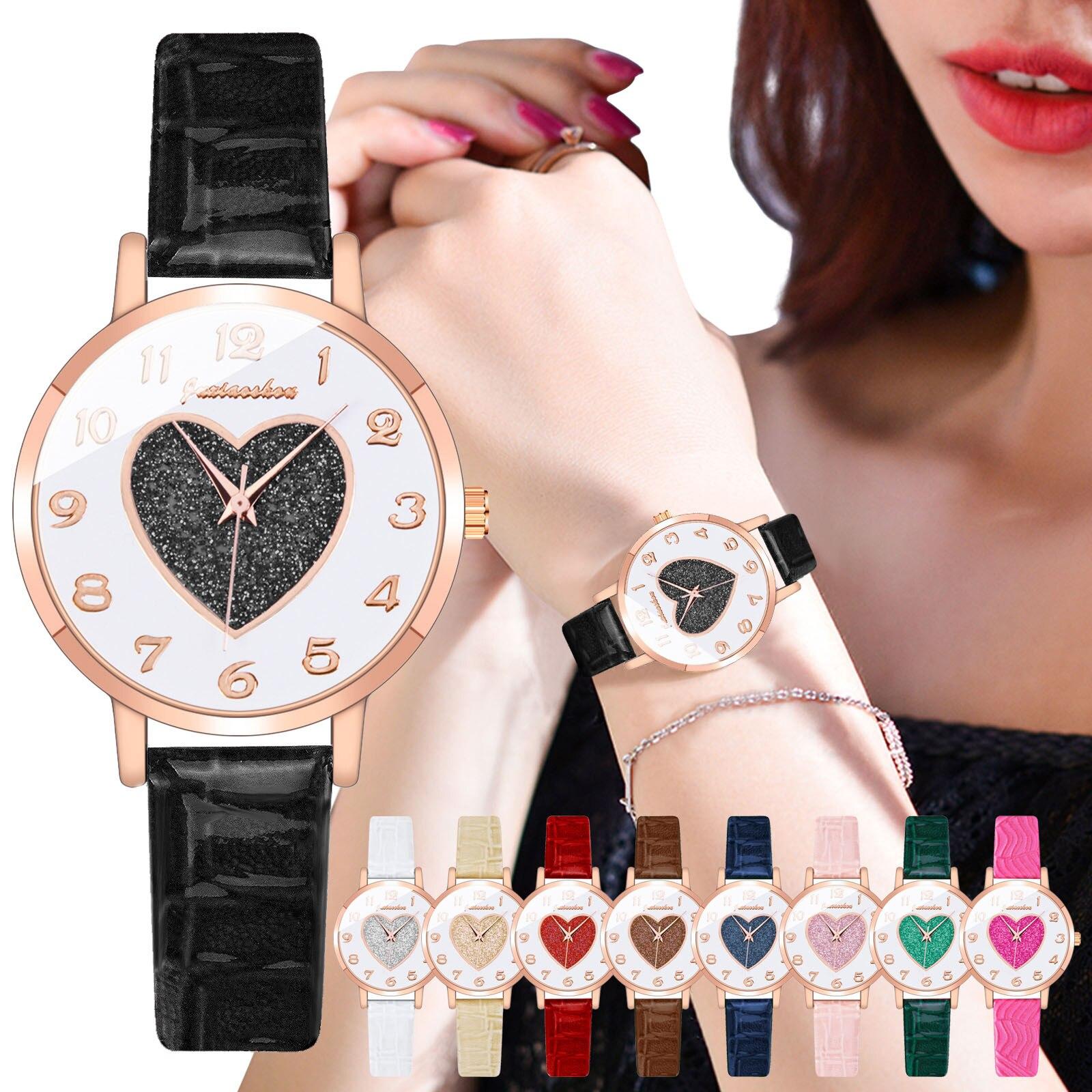 Hotest Waterproof Watch Juxiaoshou JXS05 Ladies Quartz Watch Leather Strap Rotating Women's Luxury Watch наручные часы женские часы наручные женские taya цвет черный t w 0065 watch gl black